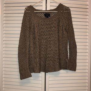 Tan knit American eagle sweater